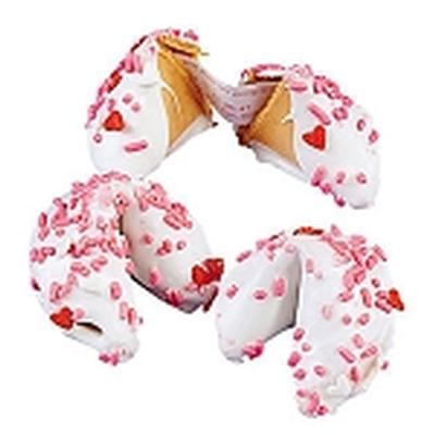 Click to get Valentine Fortune Cookies Chocolate Dipped