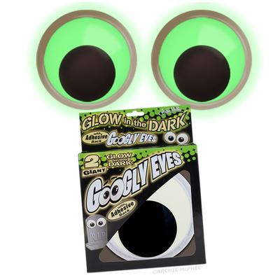 Click to get Giant Glow in the Dark Googly Eyes