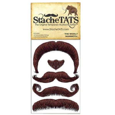 Click to get Stache Tats Wooly Mammoth Temporary Mustache Tattoos