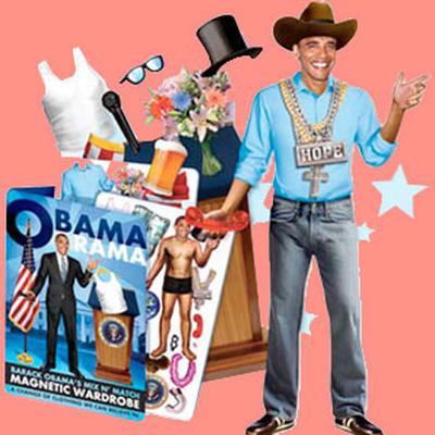 Click to get Barack Obama Mix N Match Dress up Kit