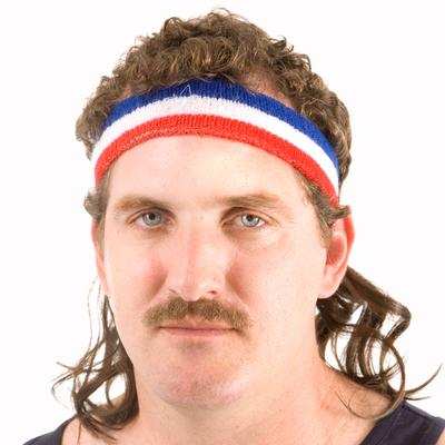 Click to get Instant Mullet w Headband The Bobcat