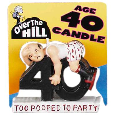 Click to get Over the Hill Age 40 Candle
