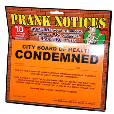 Click to get Prank Condemned House Stickers