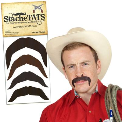 Click to get Stache Tats Outlaw Temporary Mustache Tattoos