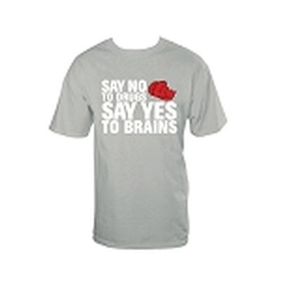 Click to get No Drugs Yes Brains TShirt Gray