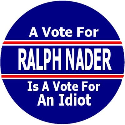Click to get Ralph Nader Campaign Button