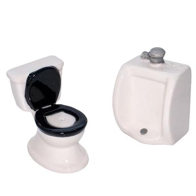 Click to get Toilet Bowl Salt  Pepper Shakers