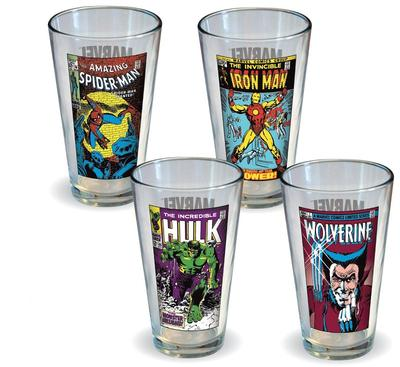 Click to get Marvel Comics Classic Covers Glass Set 4 Pack