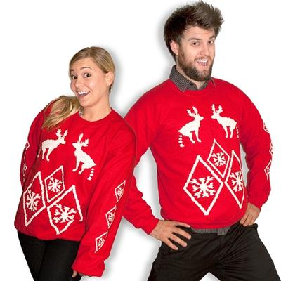 Click to get Screen Print Ugly Holiday Sweatshirt Pooping Moose