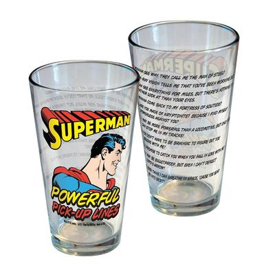 Click to get Superman Powerful PickUp Lines Glass
