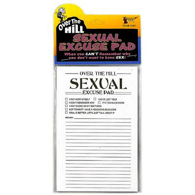 Click to get Over the Hill Sexual Excuse Pad